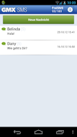 Screenshot of GMX SMS mit Free Message
