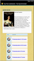 Screenshot of Text Synchronized Audiobooks