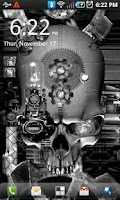 Screenshot of Steampunk Skull Live Wallpaper