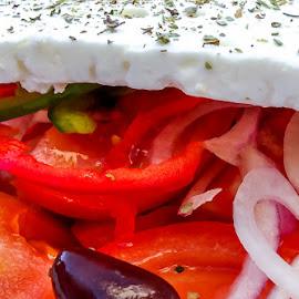 Greek salad by Sverre Sebjørnsen - Food & Drink Plated Food ( #sveoseb )