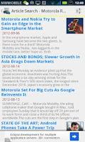 Screenshot of Popular Article Selection