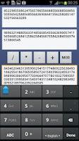 Screenshot of Big Number Calculator