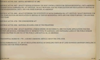 Screenshot of PHILIPPINE CIVIL LAWS