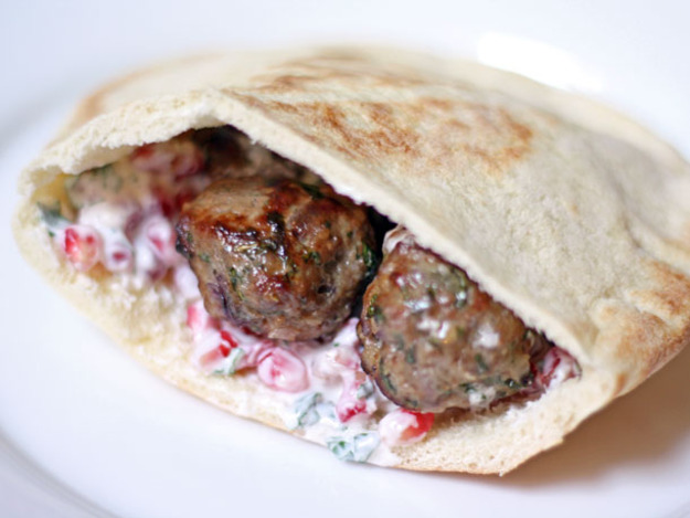 ... cucumbers and yogurt sauce lamb kofte with yogurt sauce and muhammara