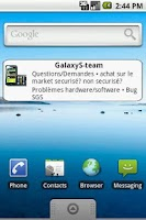 Screenshot of GalaxyS-team forums