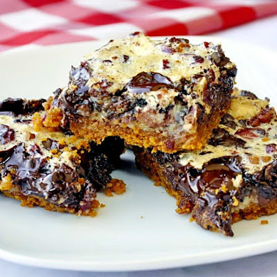 Double Chocolate Cranberry Pecan Squares