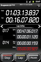 Screenshot of Stopwatch One