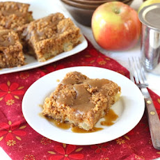Apple Coffee Crumb Cake with Brown Sugar Glaze