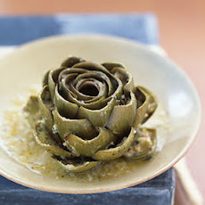 Whole Stuffed Artichokes Braised in White Wine