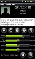 Screenshot of SVOX German Petra Voice
