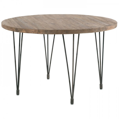 Acheter Table Ronde120cm Pin Recycle Et Fer Motown Casita A