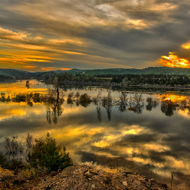 Ceyhan river by Murat Besbudak - Landscapes Sunsets & Sunrises ( ceyhan river, sunset, osmaniye,  )
