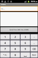 Screenshot of 24SMS - Free International SMS