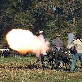 Ready, Aim, FIRE!!!!!!! by Roy Walter - People Group/Corporate ( reenactment, cannon fire, civil war, news & events, entertainment )