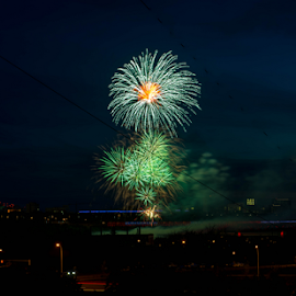 Fire Work by Joseph Law - News & Events World Events ( fire work, beautiful night, world celebration, beautiful, edmonton city, celebration even )