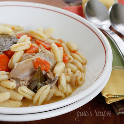 Chicken and Cavatelli Soup