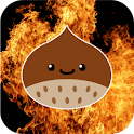 Tianjin chestnut in the fire icon