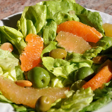 Butter Lettuce, Pomelo and Cara Cara Salad with Olives and Citrus Vinaigrette