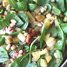 White Bean, Bacon and Potato Spinach Hash