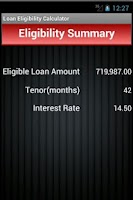 Screenshot of Loan Eligibility Calculator
