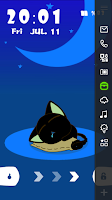 Screenshot of Cute Cat Live Locker Theme