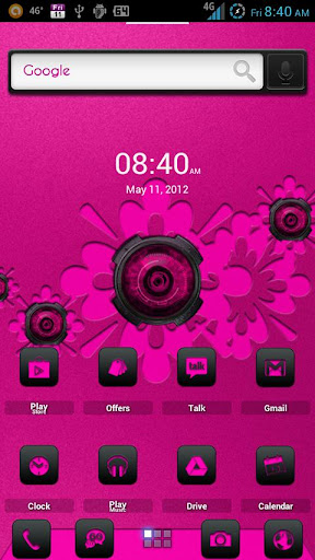 ADW Theme DigitalSoul Pink