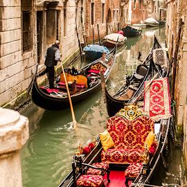 Love of italia by Sheldon Anderson - Transportation Boats ( water, gondola, boats, venice, italy )