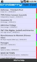 Screenshot of Hott Foot! Events