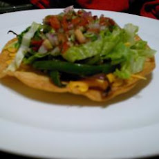 Low Fat Chicken Tostadas