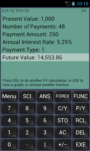 Financial Calculator (ad) - screenshot