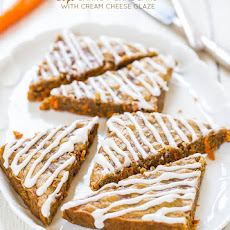 Soft Carrot Cake Bars with Cream Cheese Glaze