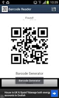 Screenshot of Barcode Generator/Reader