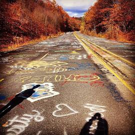 Graffiti Highway, Centralia, PA by Nancy Senchak - Instagram & Mobile iPhone