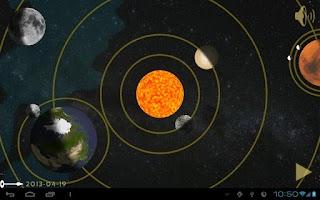 Screenshot of Copernican Orrery