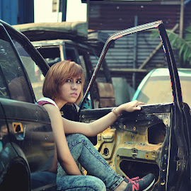 Junkyard by Ucil Shabby - People Fashion ( models, fashion, model, street art, fashion photography, people )