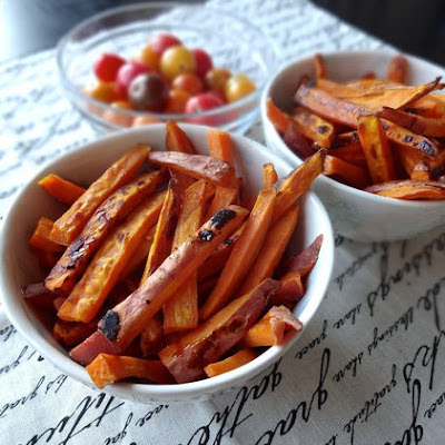 Spiced & Caramelized Sweet Potato Fries