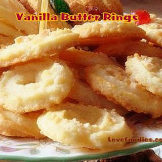 Vanilla Butter Ring Cookies