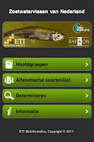 Screenshot of Zoetwatervissen van Nederland