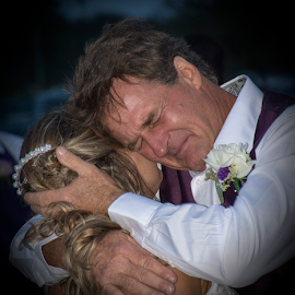 Father dances with the bride by Joe Saladino - Wedding Reception ( reception, wedding, bride, father )