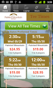 Painted Mountain Tee Times - screenshot
