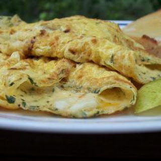 Egyptian Feta Cheese Omelet Roll