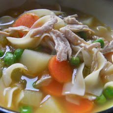 30 Minute Chicken Noodle Soup (From Foodtv, Rachael Ray)