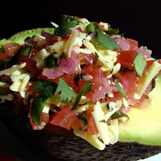 Tomato-stuffed Avocados