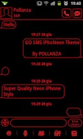 Screenshot of GO SMS Theme Messages Red