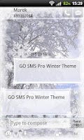 Screenshot of GO SMS Pro Winter Theme