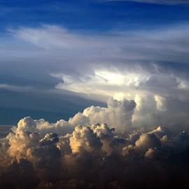 Sunset Storm by Ken Stringer - Landscapes Cloud Formations ( cloud formations, clouds, cumulus, skyline, sky, weather, cloudscape, cloudy )