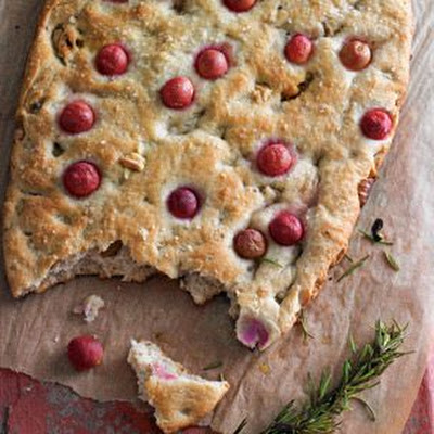 Focaccia with Grapes & Walnuts