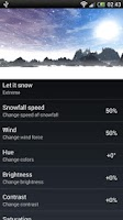 Screenshot of Snowfall 360° Live Wallpaper