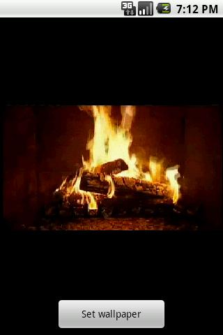 yule-log-fire-live-wallpaper for android screenshot