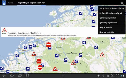 Traffic in Norway - screenshot